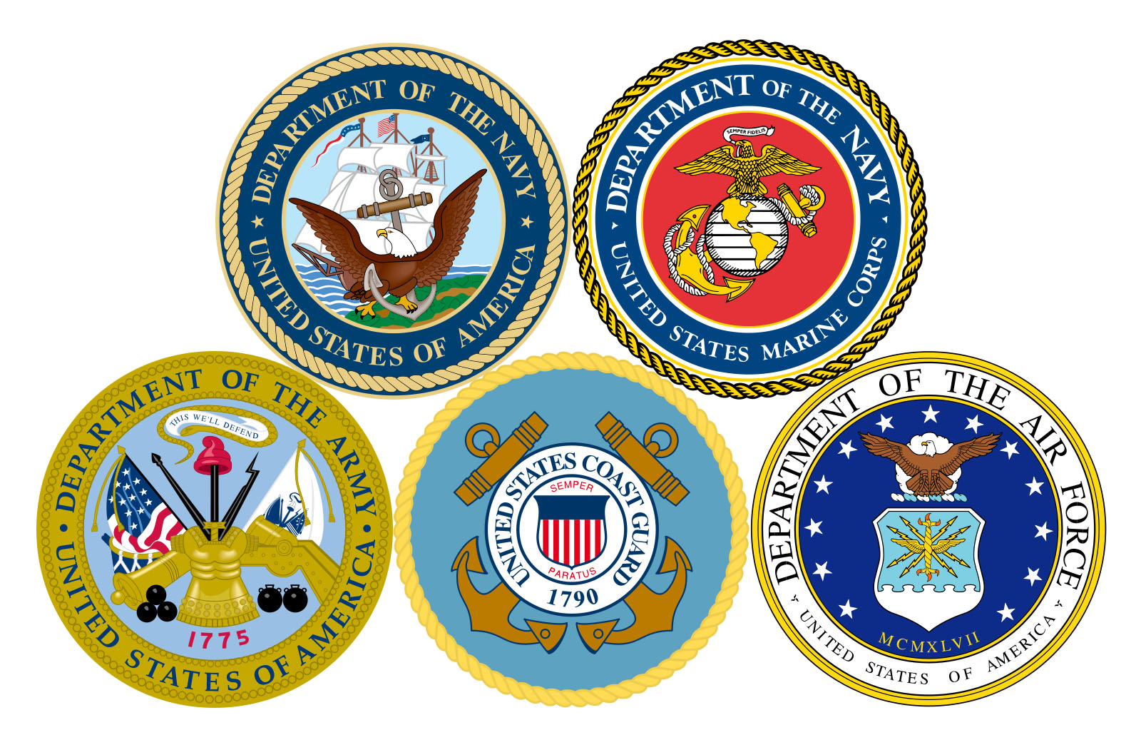 Military Logos Group 3 - 1593 x 1044
