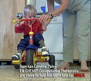CHEMPI Occupational Therapists help kids learn how to walk