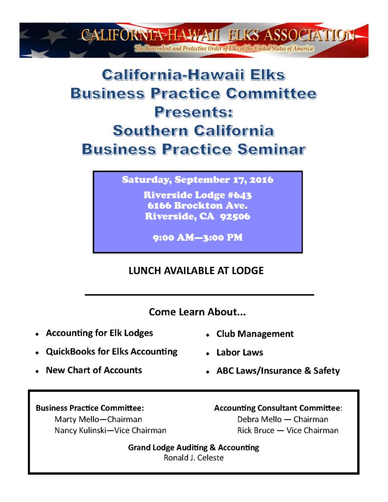 business practice seminar