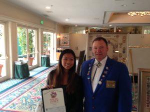 State Champion Americanism Essay contest winner Qili Paape